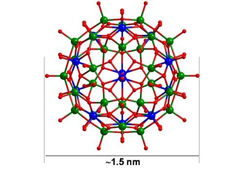 了首例具有富勒烯结构类型的高核钛氧团簇分子(ti42)